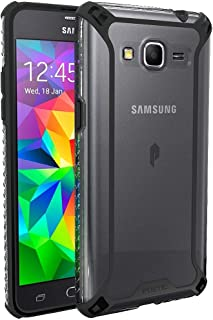 Poetic Affinity Series Premium Thin/No Bulk/Protection Where its Needed/Clear/Dual Material Protective Bumper Case for Samsung Galaxy Grand Prime (2014) - Black/Clear