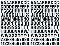 (シャシャン)XIAXIN 防水 PVC製 アルファベット ナンバー ステッカー セット 耐候 耐水 ローマ字 数字 キャラクター 表札 スーツケース ネームプレート ロッカー 屋内外 兼用 TS-121a (2点, ブラック)