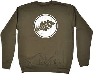 123t Funny Novelty Music Sweatshirt - Guitar Circle - Sweater Jumper