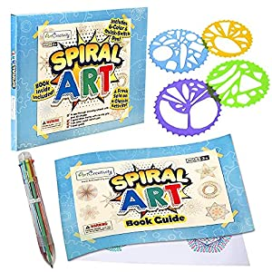 SPARK THEIR CREATIVITY: Tease out your little one's artistic side with ArtCreativity's award-winning spiral art drawing set. Every 7-piece kit comes with a 6-in-1 color pen, 4 drawing templates, and 1 sketch pad. This means hours of smile-sparking, c...