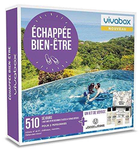 Vivabox - Coffret cadeau couple - ECHAPEE BIEN-ÊTRE - 510 week-ends bien-être + 1 kit de voyage