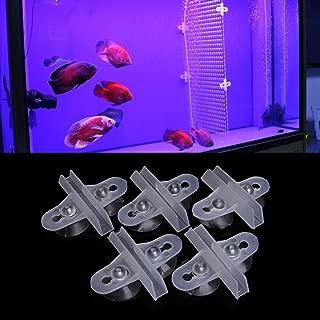 SimpleLife 5個の水族館フィッシュタンクディバイダーサクションカップディバイダープラスチックシートホルダーセット