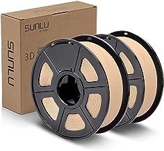 SUNLU PLA Real Wood Filament 1.75mm 3D Printer 3D Pens 2KG PLA Filament +/- 0.02 mm, Wood 2KG