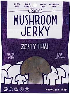 Pan's Mushroom Jerky, Mushroom Jerky Zesty Thai, 2.2 Ounce