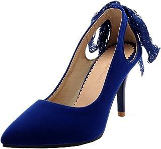 75ed08f5f707b VogueZone009 Femme Suédé Fermeture d orteil à Talon Haut Tire Chaussures  Légeres