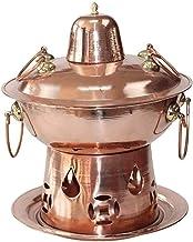 Grill électrique portable, Cuisine sécurisée Fondue Friteuses Vieux Beijing Single Chaud Pot Chaud Cuivre, Alcool Fire Cha...