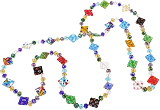 B Baosity - Filato di perline colorate in vetro per creazione gioielli, bracciali, orecchini, bricolage, fai da te, 117 cm