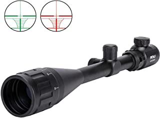 Pinty 6-24x50 AO Rifle Scope Rangefinder Illuminated Optics with Free Mount