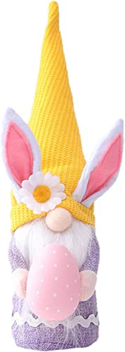 wholesale Bunny Gnomes with Eggs high quality Girls Birthday Gift Rabbit Tomte Nordic Swedish Nisse Scandinavian new arrival Tomte Dwarf Home Decor Spring Easter Collectible Figurine, 9.8Inch online sale