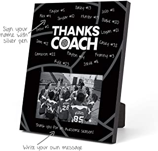 ChalkTalkSPORTS Volleyball Photo Frame | Coach (Autograph) Picture Frame | Black