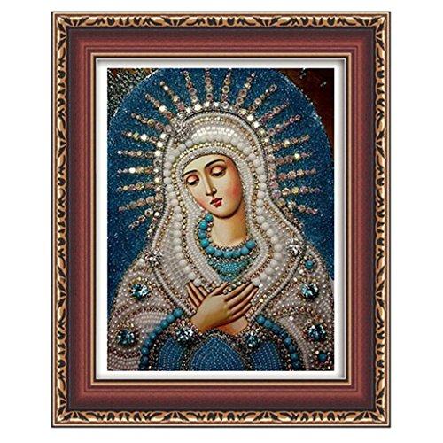 Gazechimp 5D Bordar Punto de Cruz Artesanía Pintura Diamante Virgen María Bricolaje # 9a