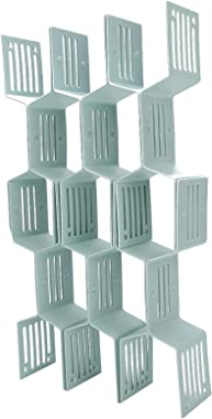 ShunFudz Plastic Stacking Drawer, Storage Organizer Unit(Light Blue)