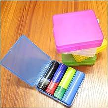 ZQLY Storage box battery classification box battery storage box waterproof box (Color : Purple)