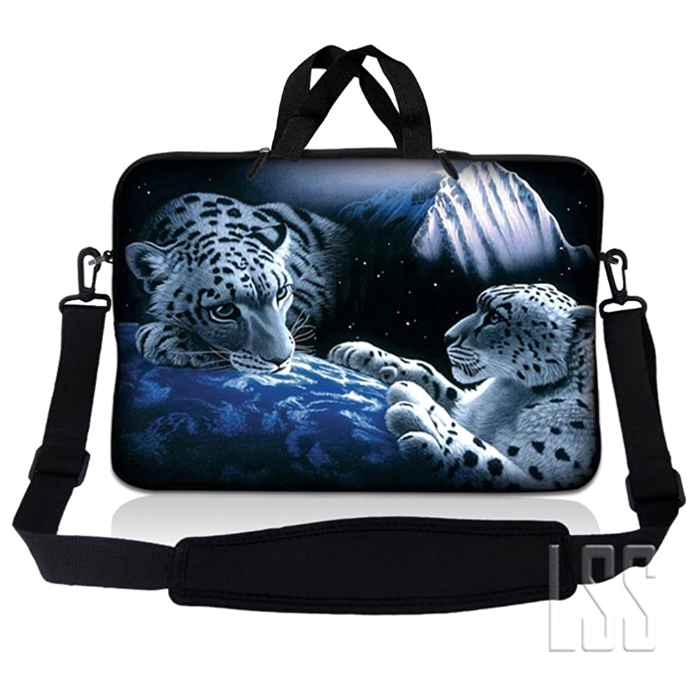 LSS 10 10.2 inch Laptop Sleeve Bag Compatible with Acer, Asus, Dell, HP, Sony, MacBook and more | Carrying Case Pouch w/ Handle & Adjustable Shoulder Strap, Mountain Lions