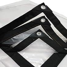 HCYTPL Transparant dekzeil met ogen, waterdicht multifunctioneel zeil voor overkapping tent boot spootafdekking, dikte 0,1...