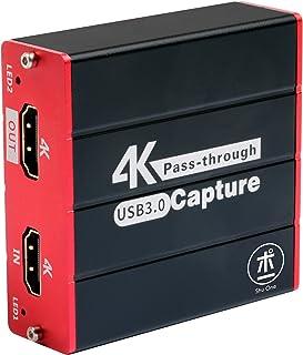 ShuOne キャプチャーボード4K入力、HDMI キャプチャ パススルーボード 、USB 3.0ゲームキャプチャ、PS5、PS4、Switch、Windows、Mac、Linuxシステム、Youtube、Potplayer、Xsplit、その...