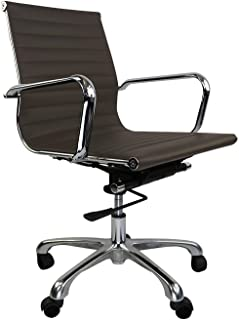 Decorific NYC Management Chair - Ribbed, Supportive Office Chair, Brown