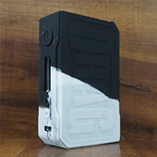 ModShield for VOOPOO Drag 157W TC Silicone Case ByJojo Sleeve Cover Wrap Shield Skin (White/Black)
