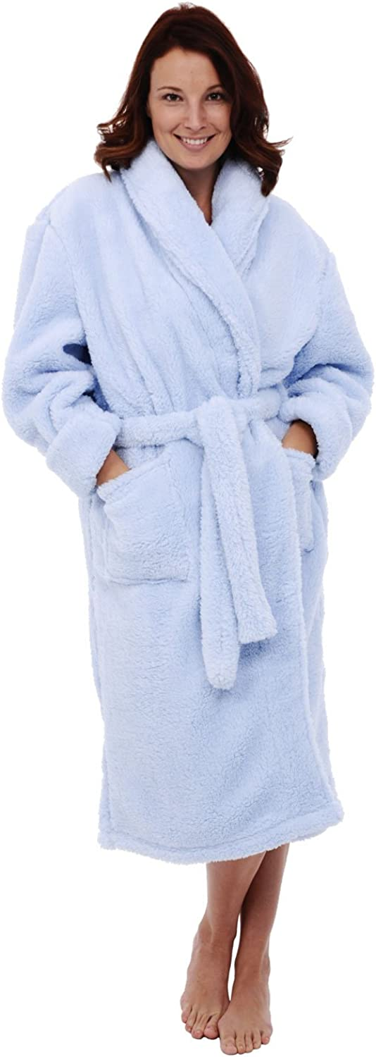 Del Rossa Women's Fleece Robe, Plush Microfiber Bathrobe