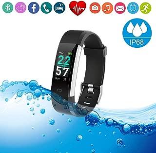 Fitness Tracker HR Smart Watch/Blood Pressure & Heart Rate & Sleep Monitor/IP68 Waterproof Sport Running & Walking Pedometer /Activity Calories Step Counter Gift for Kids Women Men Ladies Boys Girls