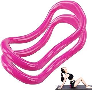 yyuezhi Anillo de Yoga Ajustable para Pilates Entrenamiento en Casa Anillo de Yoga Anillo de Pilates Anillo de Yoga TPE Pilates Gimnasio Círculo Entrenamiento Herramienta de Soporte de Resistencia X2