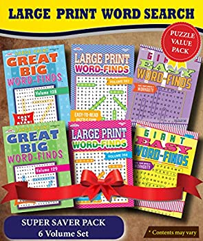 KAPPA Super Saver LARGE PRINT Word Search Puzzle Pack -  Pack of 6  Full Size Books