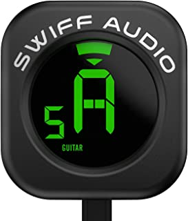 SWIFF Guitar Tuner Clip-On, Unique circle design, Sensitive Fast Tuning, Easy to Use, Big Clear VA Display for All String Instruments with Bass, Ukulele, Violin Accessories, Upgraded Tuner Series