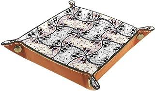 Boîte de rangement pliable en cuir synthétique pour bureau de couleur - Pour la maison, la décoration de table de jeu de t...