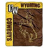 Officially Licensed NCAA Wyoming Cowboys 'School Spirit' Plush Raschel Throw Blanket, 50' x 60', Multi Color