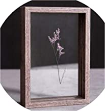 Photo Frame DIY Plant Specimen Photo Frame Wooden Creative Decorative Frame 10 inch / 8 inch D50,Brown,6 inch