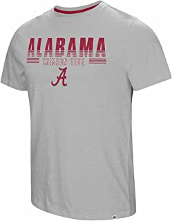 Colosseum Alabama Crimson Tide Adult NCAA Million Dollar Arm Short Sleeve T-Shirt - Gray,