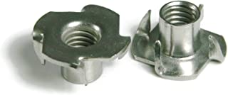 100 Qty #8-32 x 1//4 Stainless Steel Three Prong Tee Nuts BCP1068