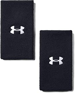 "Under Armour 6"" Performance Wristband 2-Pack, Black (001)/White, One Size Fits All"