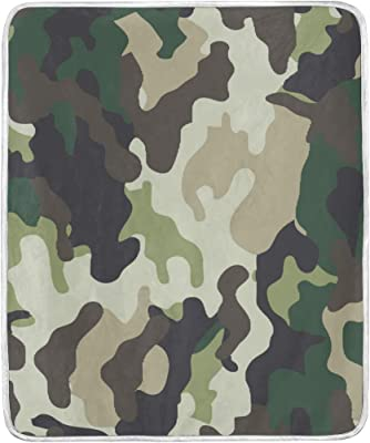 SEULIFE Blankets Abstract Camo Pattern, 50 x 60 inches Throw Size Blanket Lightweight Warmer Soft