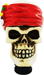 Arenbel Skull Gear Shift Knob Red Stick Shifting Knobs of Pirate Style fit Most Universal Manual Automatic Vehicle