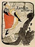 GARDENS PARIS JANE AVRIL TOULOUSE- LAUTREC FRANCE VINTAGE