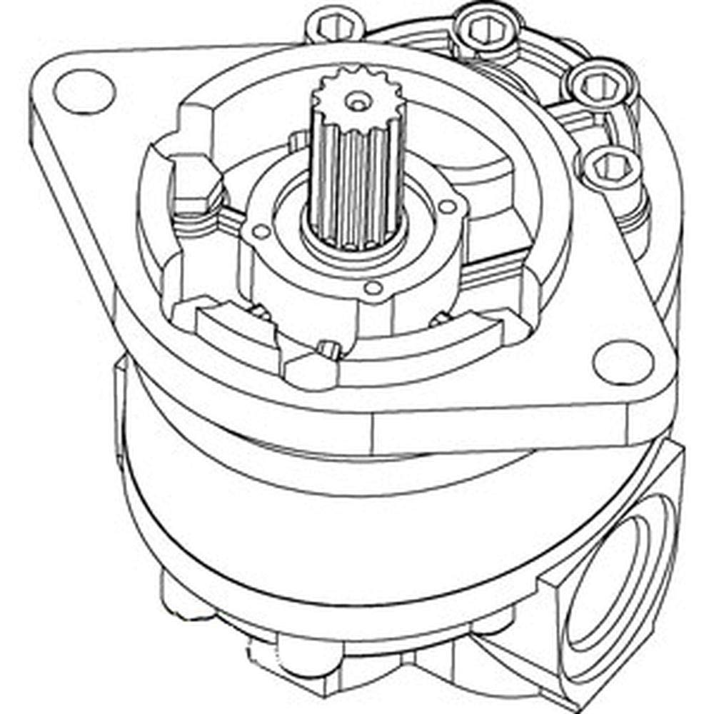 D53690 Hydraulic Pump Fits Case Indianapolis Mall 580F Backhoe Loader Attention brand 480C 580C