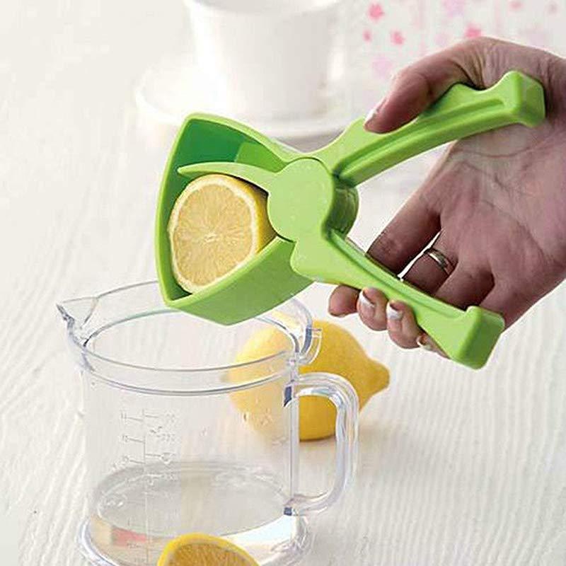 Maikouhai Manual Lemon Squeezer Leak Drop Lemon Orange Lime Citrus Squeezer Hand Press Juicer Handmade Manual Juicer Professional Kitchen Tool ABS 19 2x8 7cm
