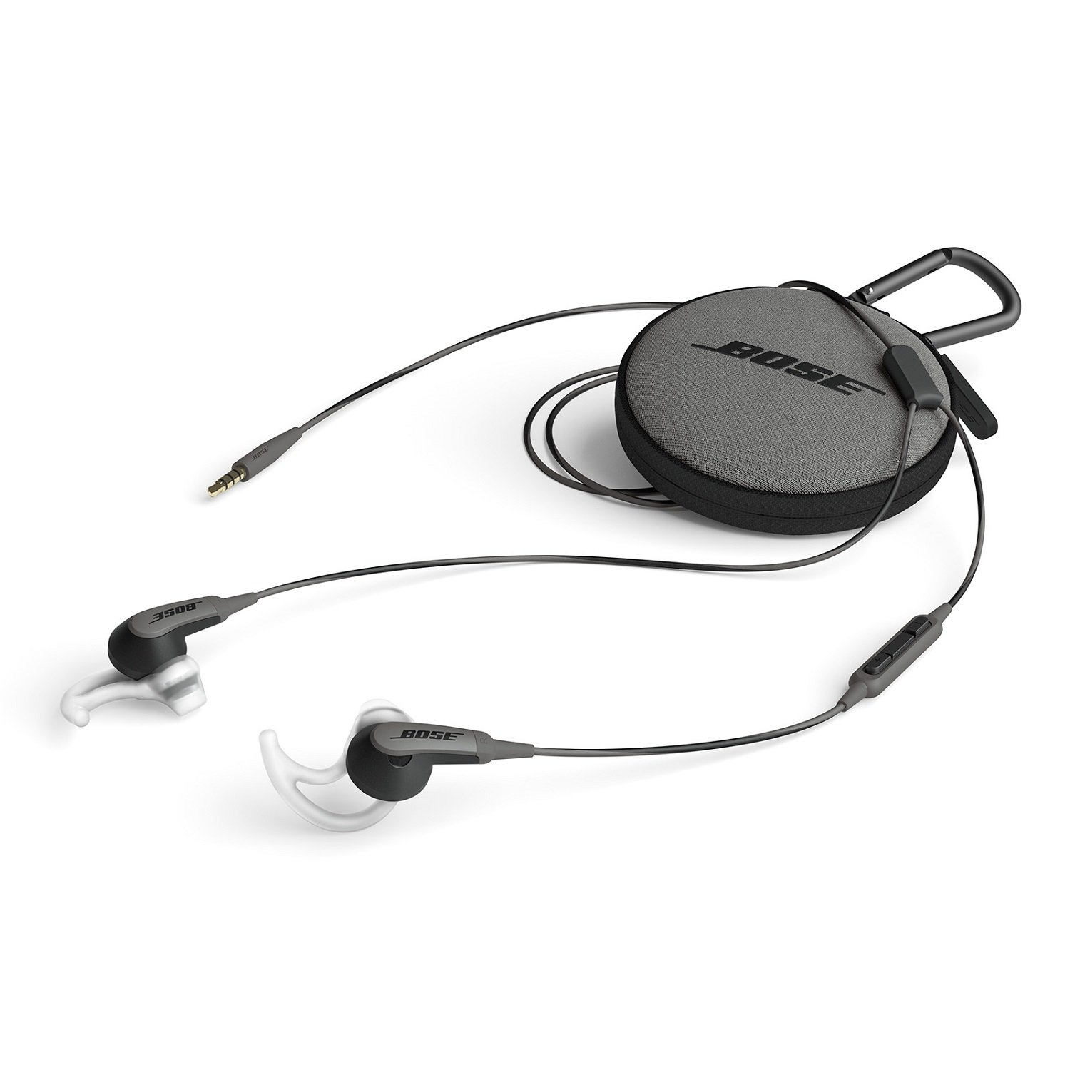 Bose SoundSport In Ear Headphones with Mic  Charcoal Black  for Samsung and Android Devices In Ear
