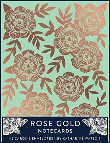 Rose Gold Notecards: 12 Foil-Stamped Cards & Envelopes (Gilded Rose Gold Stationery, Notecards and Envelopes with Blank Interiors)