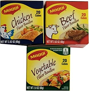 Maggi Beef-chicken-vegetable Flavor Bouillon Pack of 3