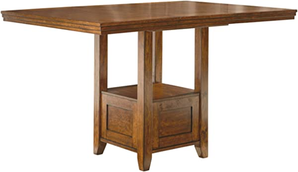 Ashley Furniture Signature Design Ralene Counter Height Dining Room Table Burnished Medium Brown