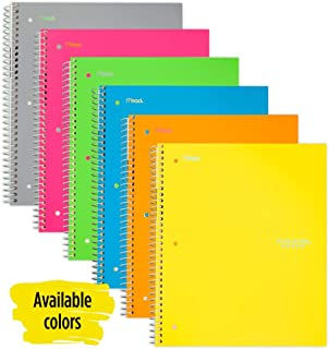 Five Star Spiral Notebook, 5 Subject, College Ruled Paper, 200 Sheets, 11