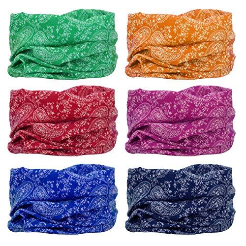 YouGa Headwear Headbands 6PCS Multifunctional Bandana Wide Seamless Magic...