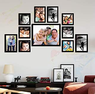 ART STREET - Memory Wall Photo Frames Set of 11 Pieces (Photo Size5x5-6 Units ; 5x7-2 Units ; 4x6-2Units ; 8x10-1unit)