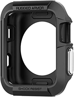 Spigen Apple Watch 42mm Series 3 / Series 2/1 Rugged Armor Cover/Case - Black