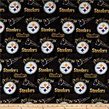 NFL Cotton Broadcloth Pittsburgh Steelers Retro...