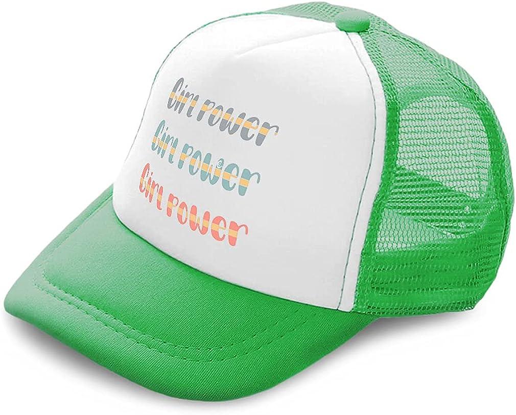 Kids Trucker Hat Girl Power Polyester Boys Caps & Girls Caps Adjustable