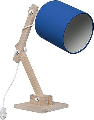 Luminária Articulada Azul Carambola Luminárias Azul/bege