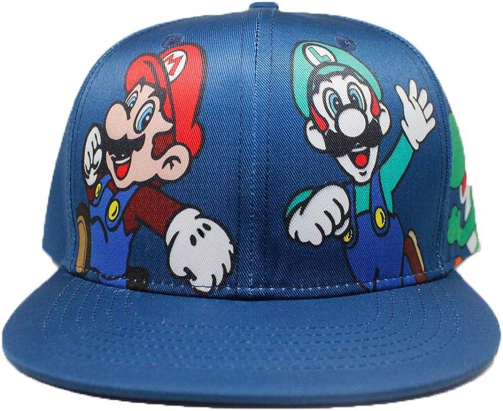 ASLNSONG Super Mario Baseball Cap Canvas Adjustable Hip-hop Cap Hat for Men & Women, Boys, Girls